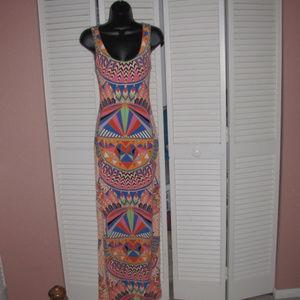 Mara Hoffman vibrant print fitted lined maxi dress